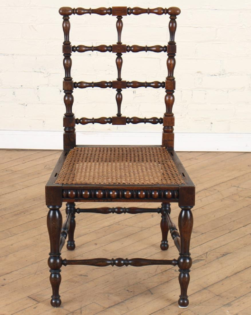 PAIR ITALIAN ROSEWOOD SPINDLE CHAIRS CIRCA 1890 - 3