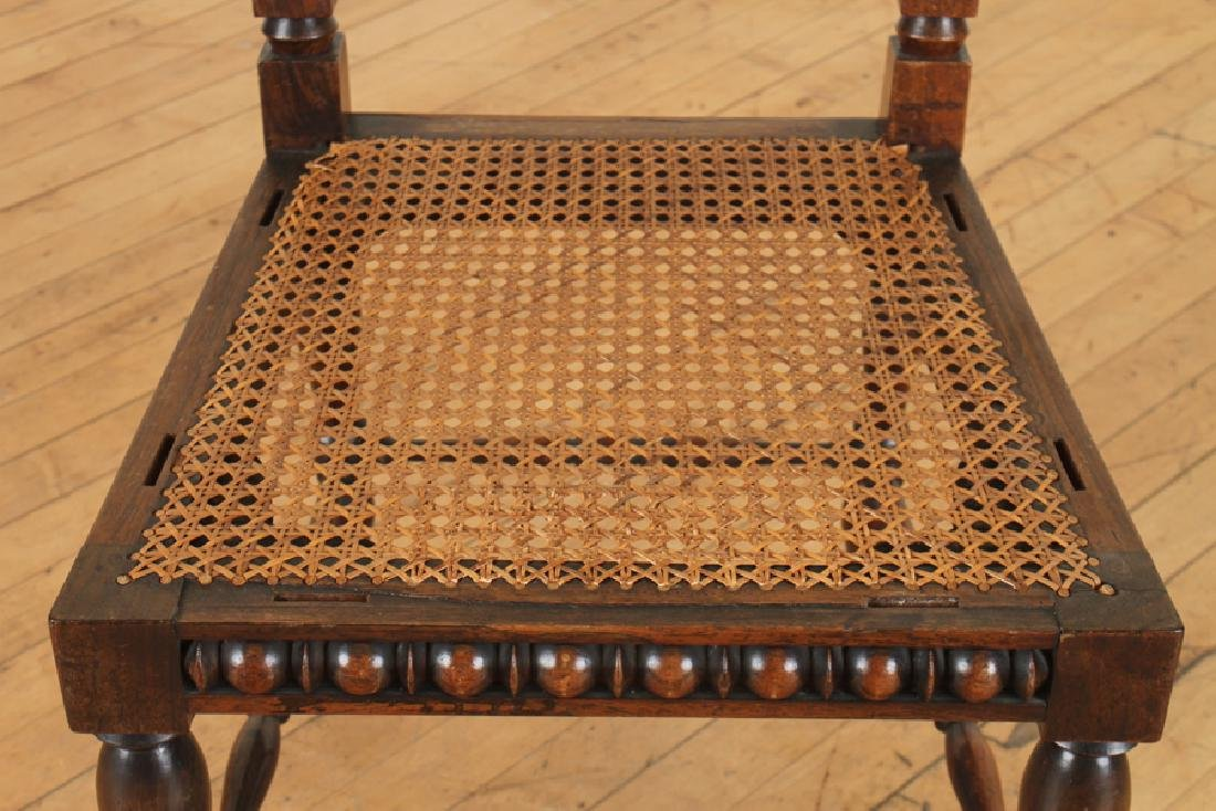 PAIR ITALIAN ROSEWOOD SPINDLE CHAIRS CIRCA 1890 - 5