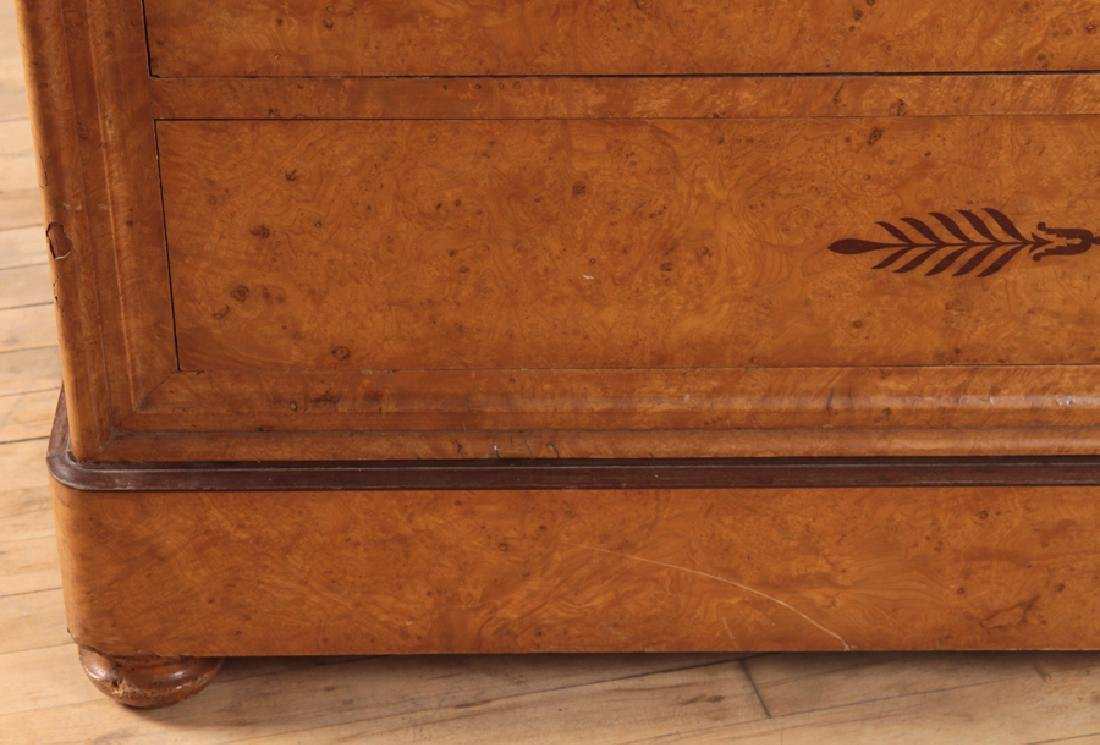 CHARLES X STYLE BURL WOOD MARBLE TOP COMMODE 1860 - 5