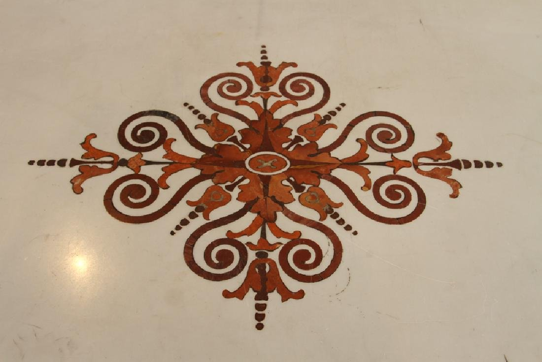 ITALIAN INLAID MARBLE TOP CONSOLE - 4