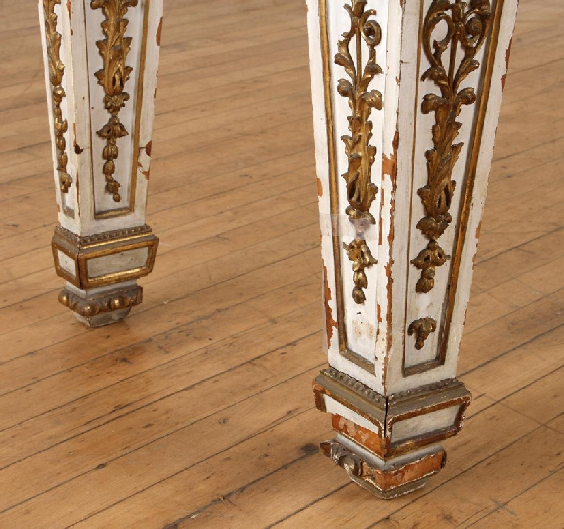 ITALIAN INLAID MARBLE TOP CONSOLE - 6