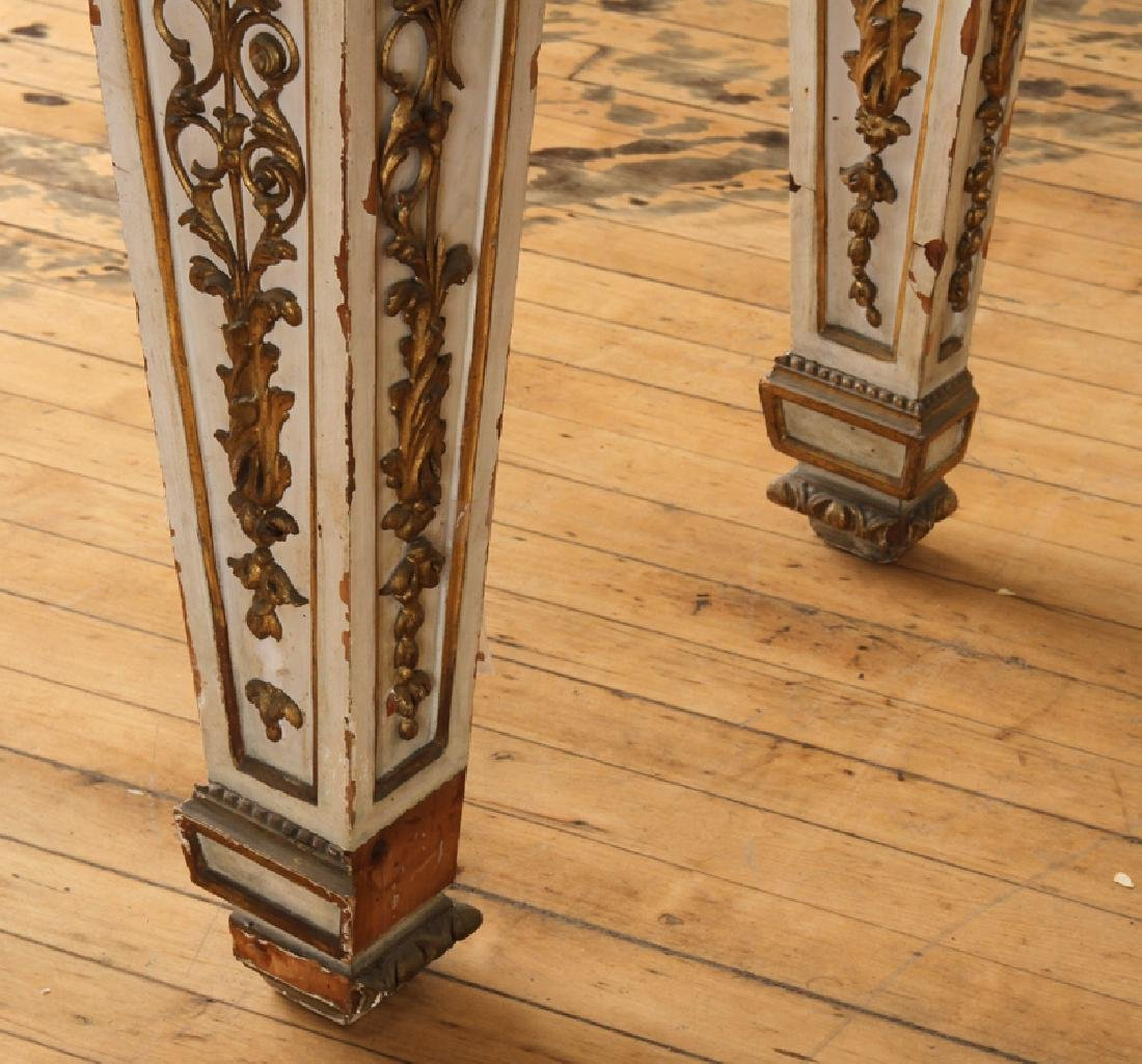 ITALIAN INLAID MARBLE TOP CONSOLE - 7