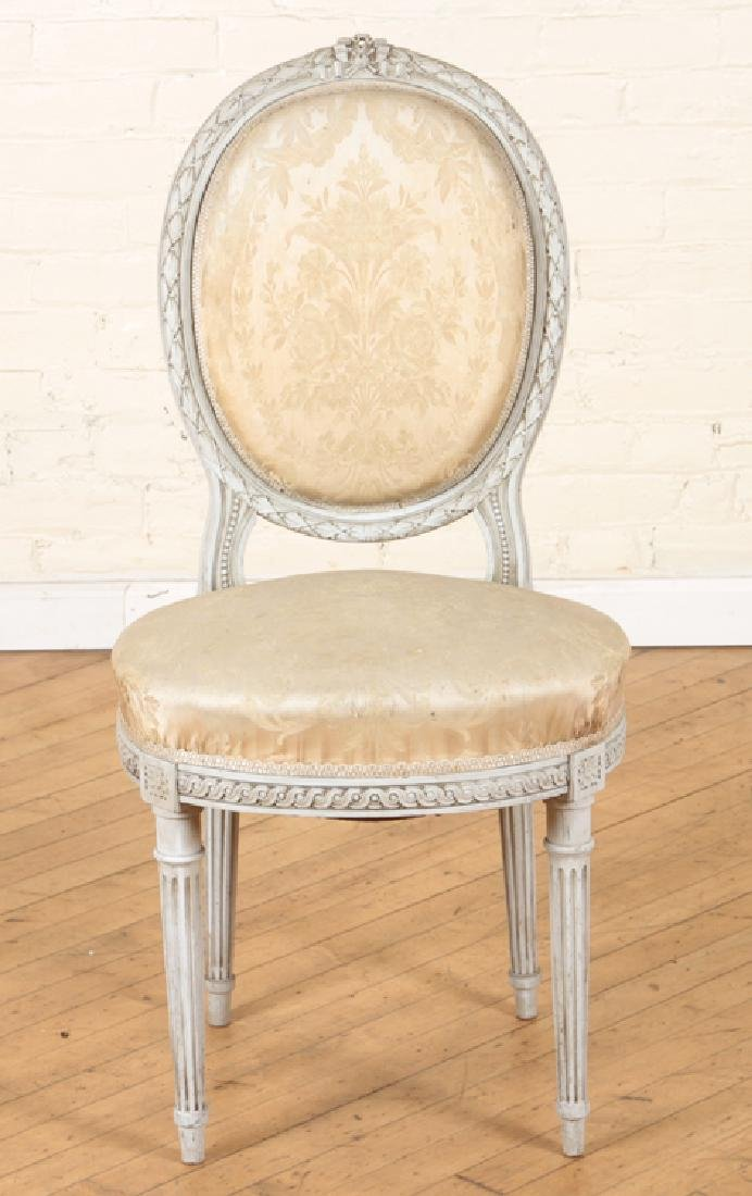 SET OF FOUR LOUIS XVI STYLE SIDE CHAIRS C. 1920 - 3