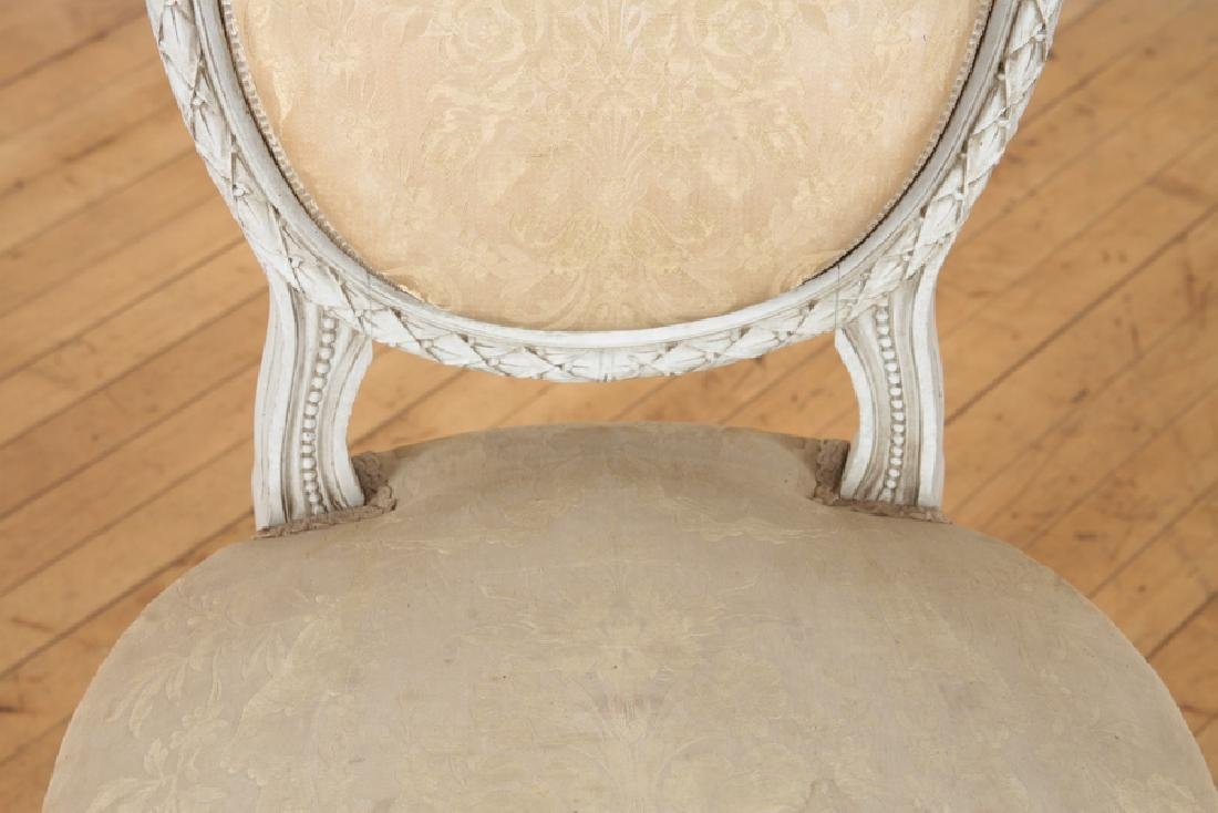 SET OF FOUR LOUIS XVI STYLE SIDE CHAIRS C. 1920 - 5