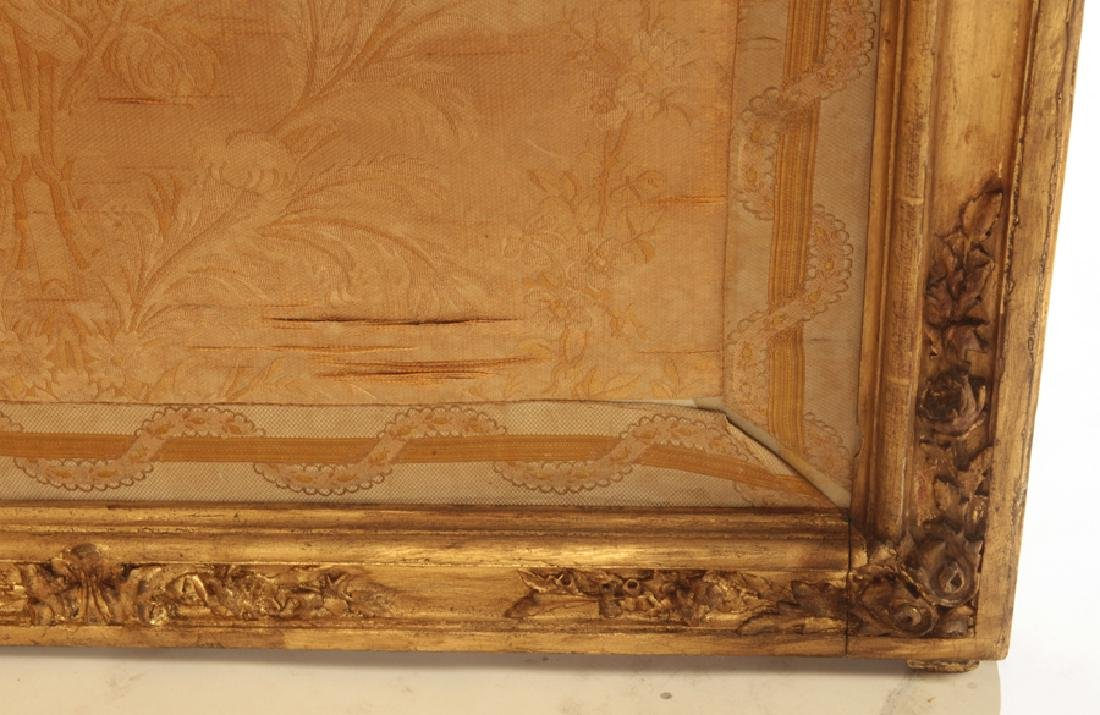 CARVED GILT WOOD LOUIS XV 3 PANEL SCREEN C.1900 - 4