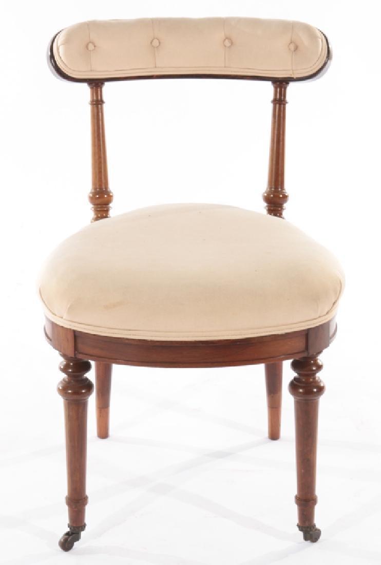 SET OF 4 ENGLISH ROSEWOOD CHAIRS CIRCA 1860 - 3