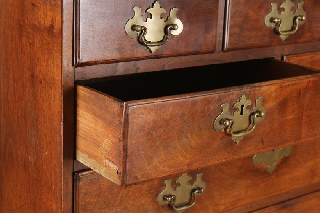 CHIPPENDALE NINE DRAWER TALL CHEST C. 1800 - 4