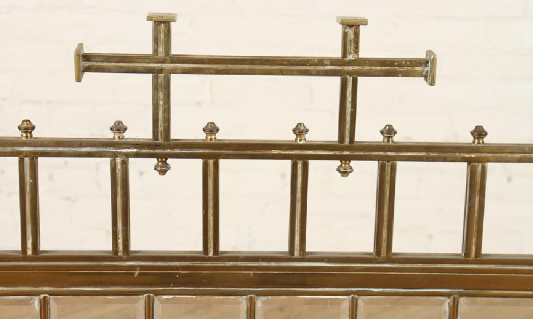 FRENCH BRASS FIRE SCREEN BEVELED GLASS C.1910 - 2