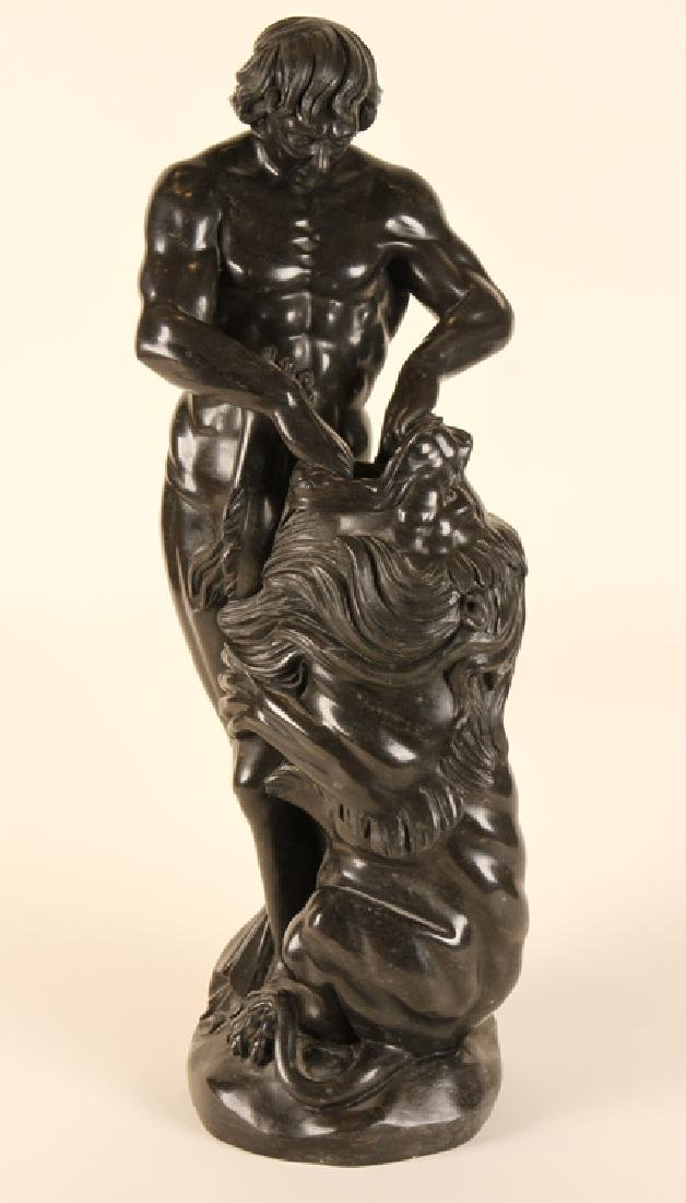 MARBLE STATUE OF SAMSON AND THE LION C. 1910