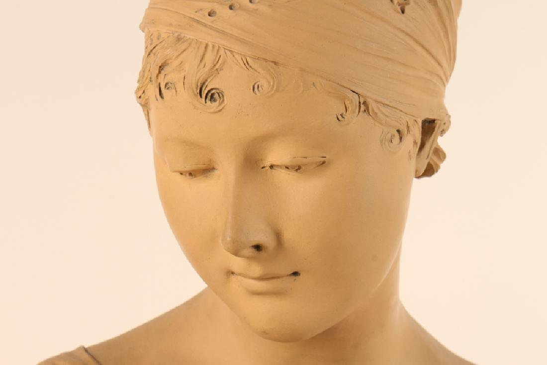 PATINATED TERRACOTTA BUST MARIE ANTOINETTE SIGNED - 3