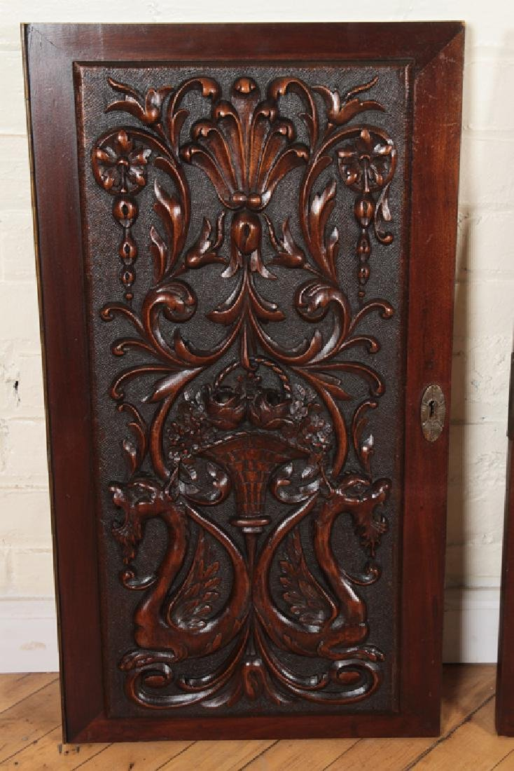 COLLECTION OF 4 ANTIQUE WALNUT CARVINGS C.1880 - 2