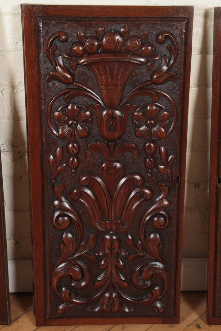 COLLECTION OF 4 ANTIQUE WALNUT CARVINGS C.1880 - 4