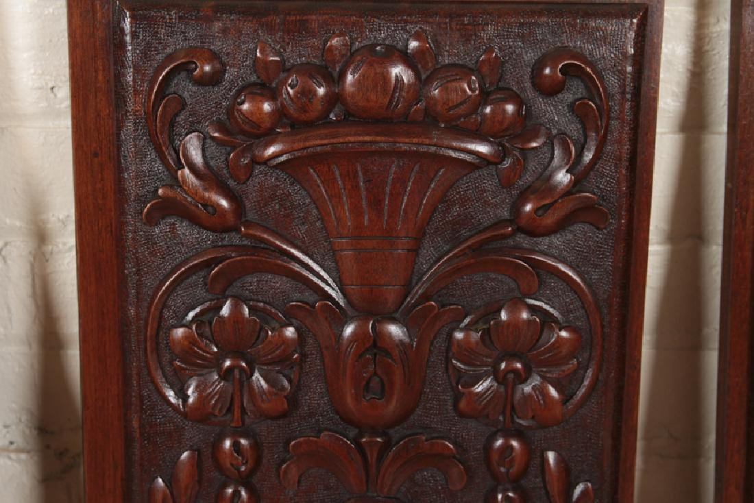 COLLECTION OF 4 ANTIQUE WALNUT CARVINGS C.1880 - 5