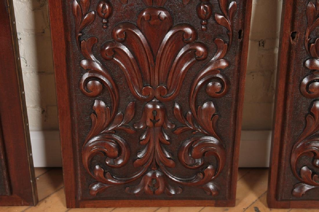 COLLECTION OF 4 ANTIQUE WALNUT CARVINGS C.1880 - 6