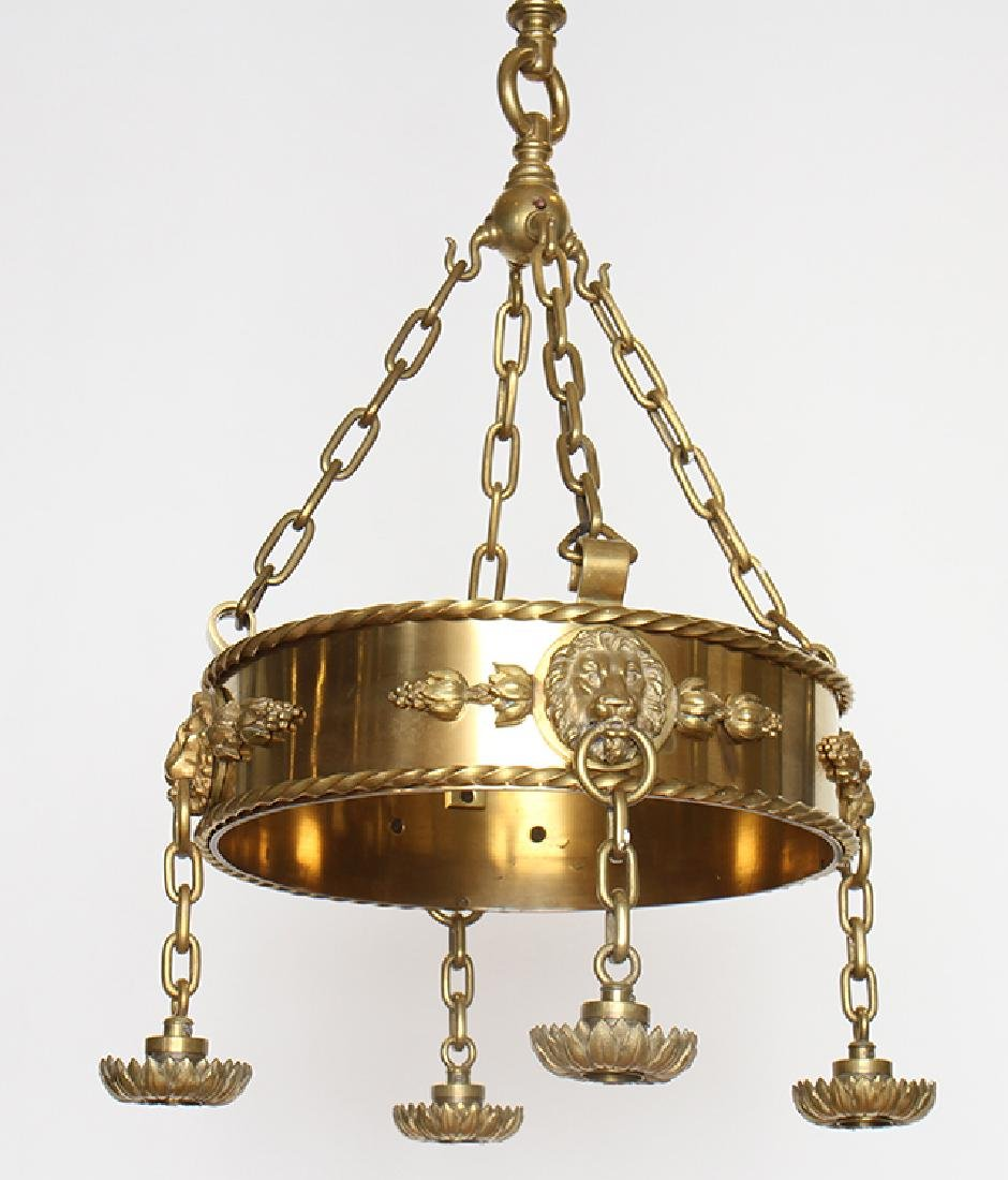 PAIR OF SIGNED CALDWELL CHANDELIERS - 2