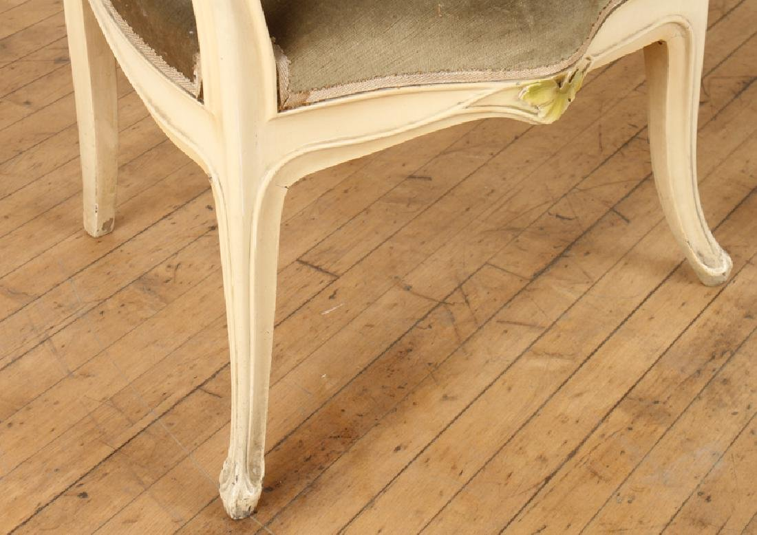 PAIR OF PAINTED ART NOUVEAU LOUIS MAJORELLE CHAIRS - 3