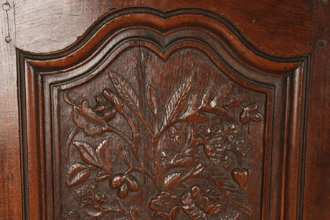 PAIR CARVED SOLID OAK DOORS CIRCA 1870 - 2