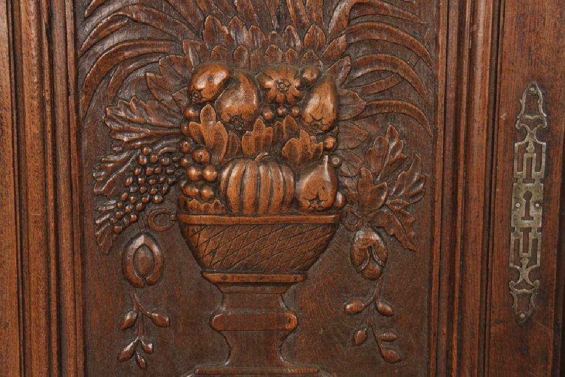 A  PAIR OF CARVED MAHOGANY DOORS CIRCA 1870. - 2