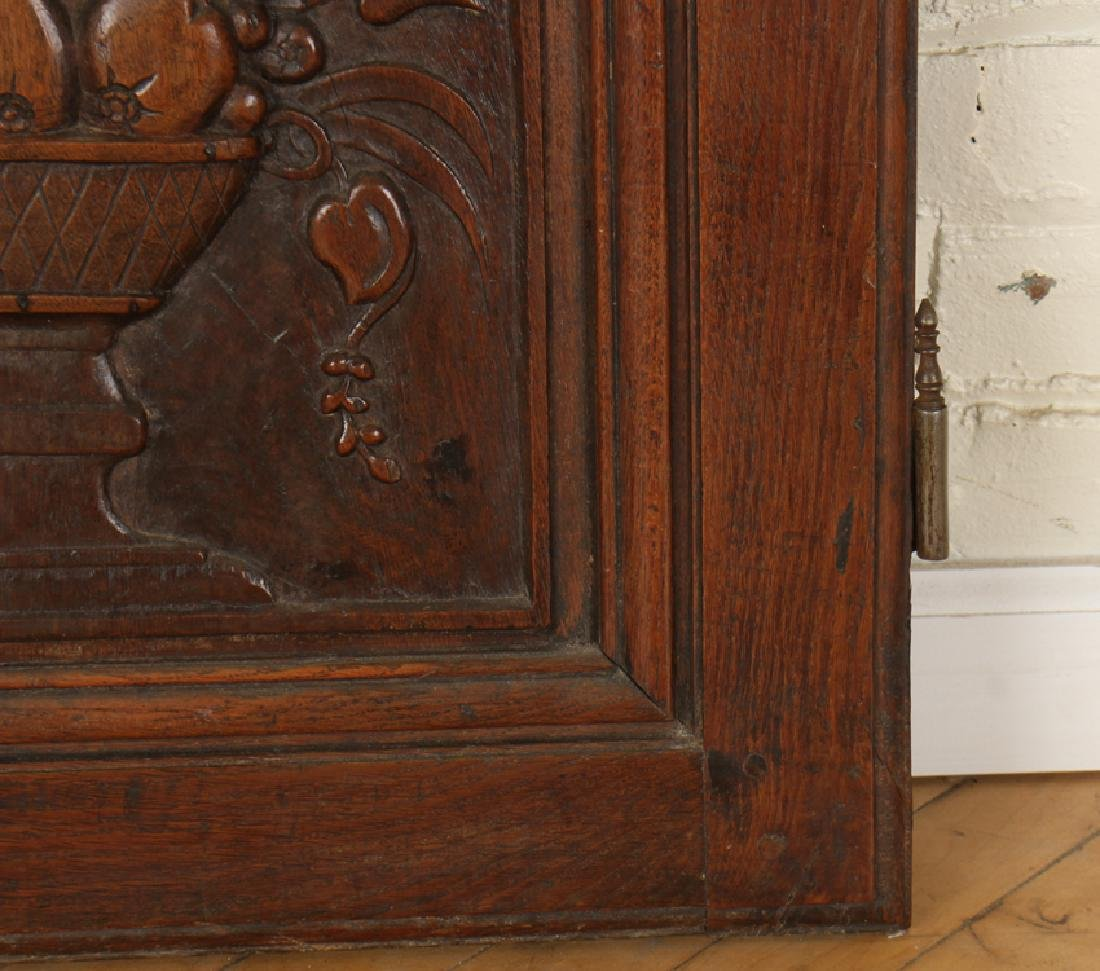 A  PAIR OF CARVED MAHOGANY DOORS CIRCA 1870. - 4