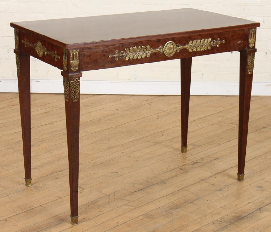 JANSEN EMPIRE STYLE MAHOGANY BRONZE SIDE TABLE