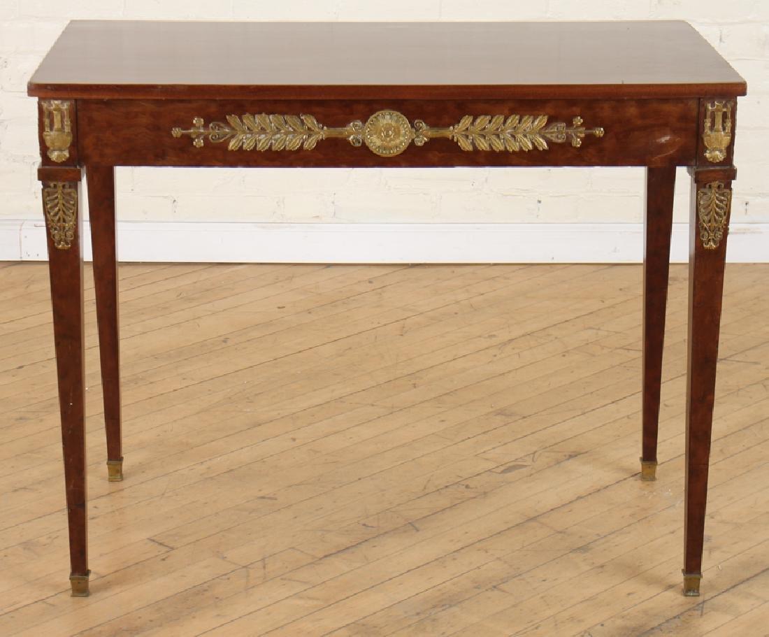 JANSEN EMPIRE STYLE MAHOGANY BRONZE SIDE TABLE - 2