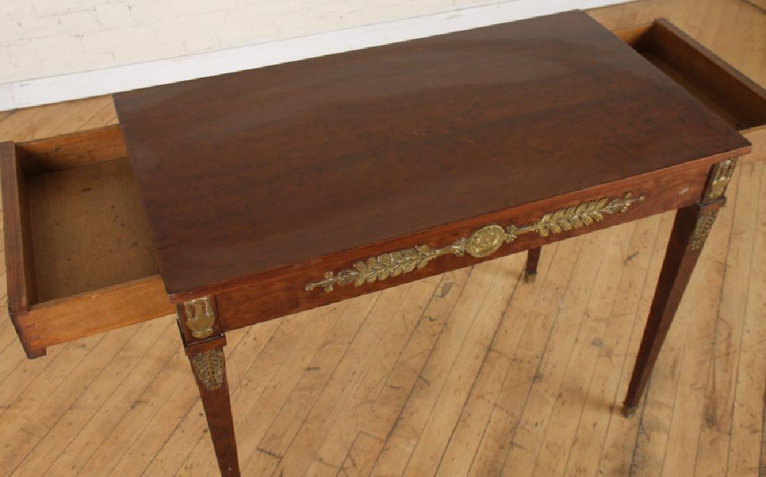 JANSEN EMPIRE STYLE MAHOGANY BRONZE SIDE TABLE - 4