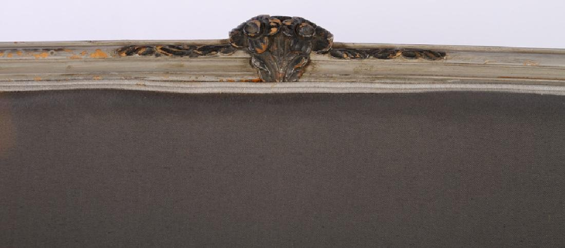 FRENCH LOUIS XV CARVED PAINTED SETTEE C.1920 - 3