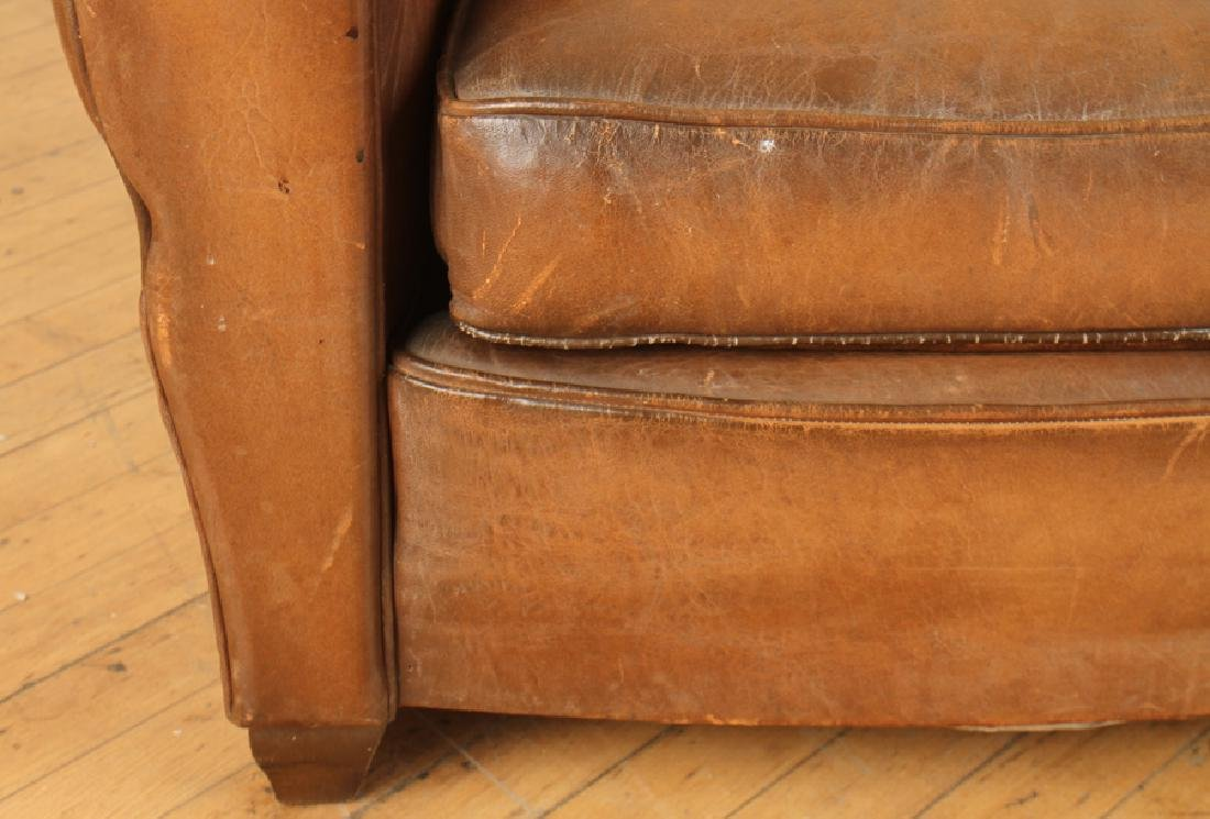 FRENCH LEATHER CLUB CHAIR CIRCA 1940 - 4