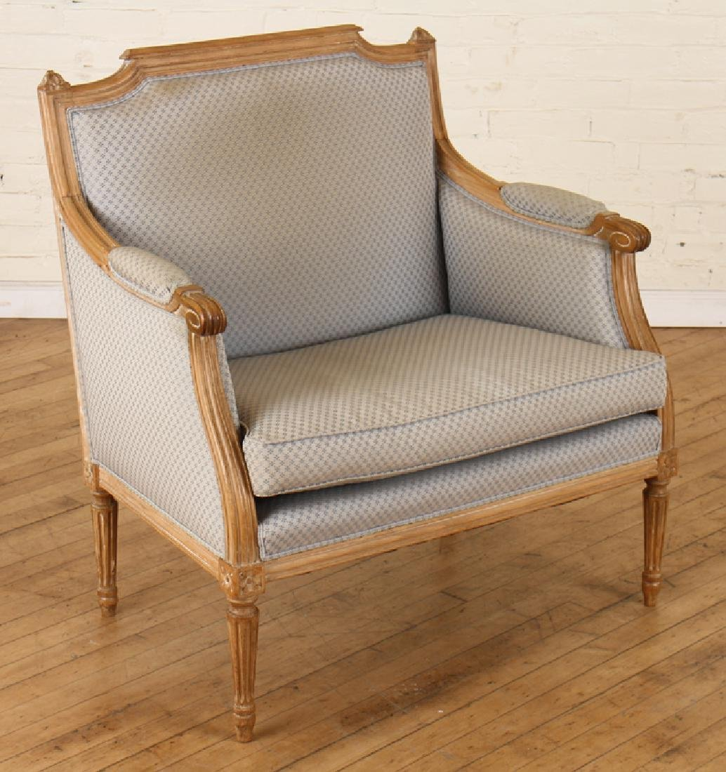 PAIR OF LOUIS XVI STYLE MARQUIS CHAIRS C. 1940 - 2