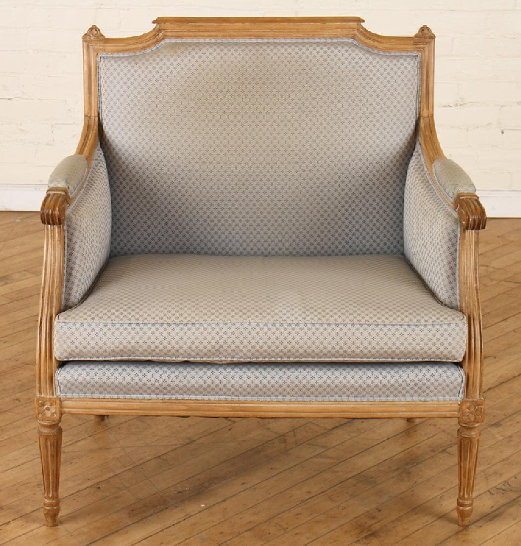 PAIR OF LOUIS XVI STYLE MARQUIS CHAIRS C. 1940 - 3