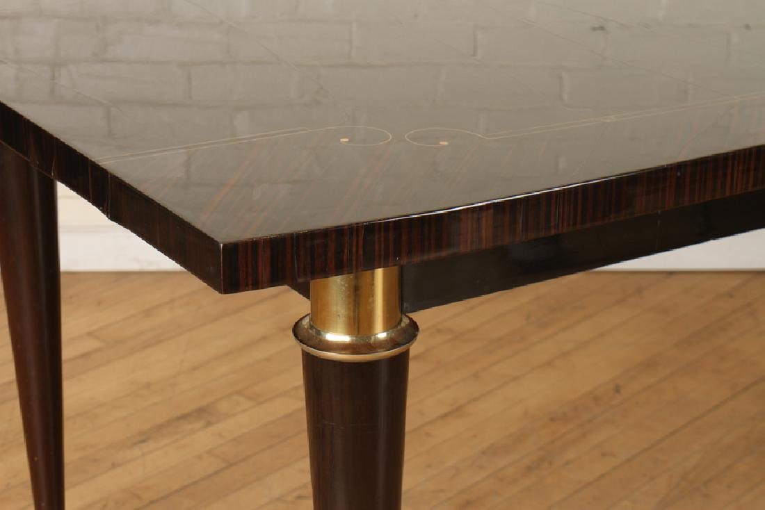 MACASSAR DINING TABLE INLAID BRONZE C. 1950 - 3