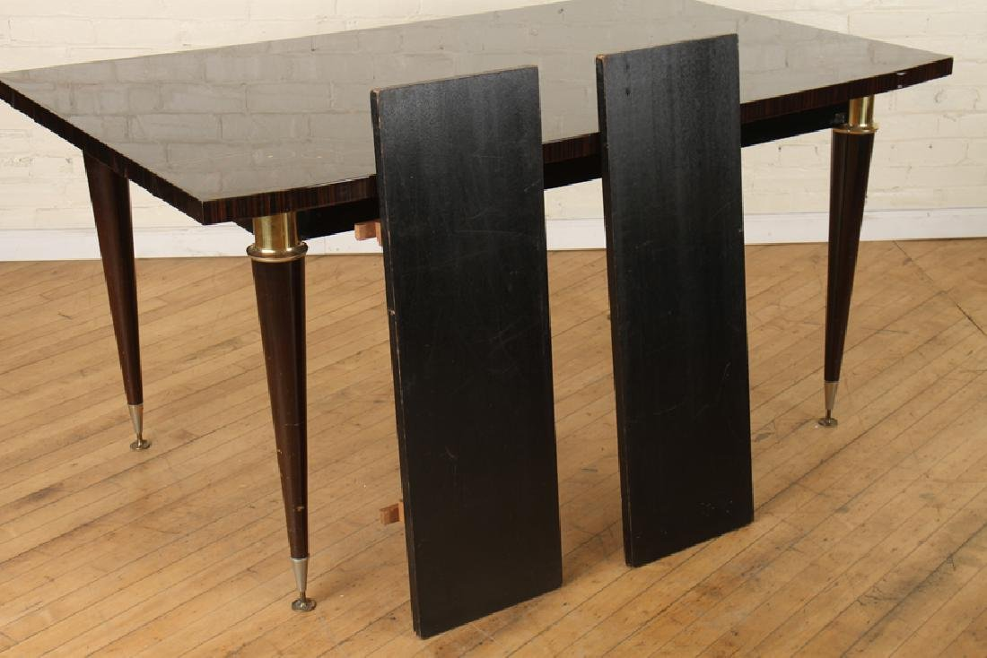 MACASSAR DINING TABLE INLAID BRONZE C. 1950 - 5