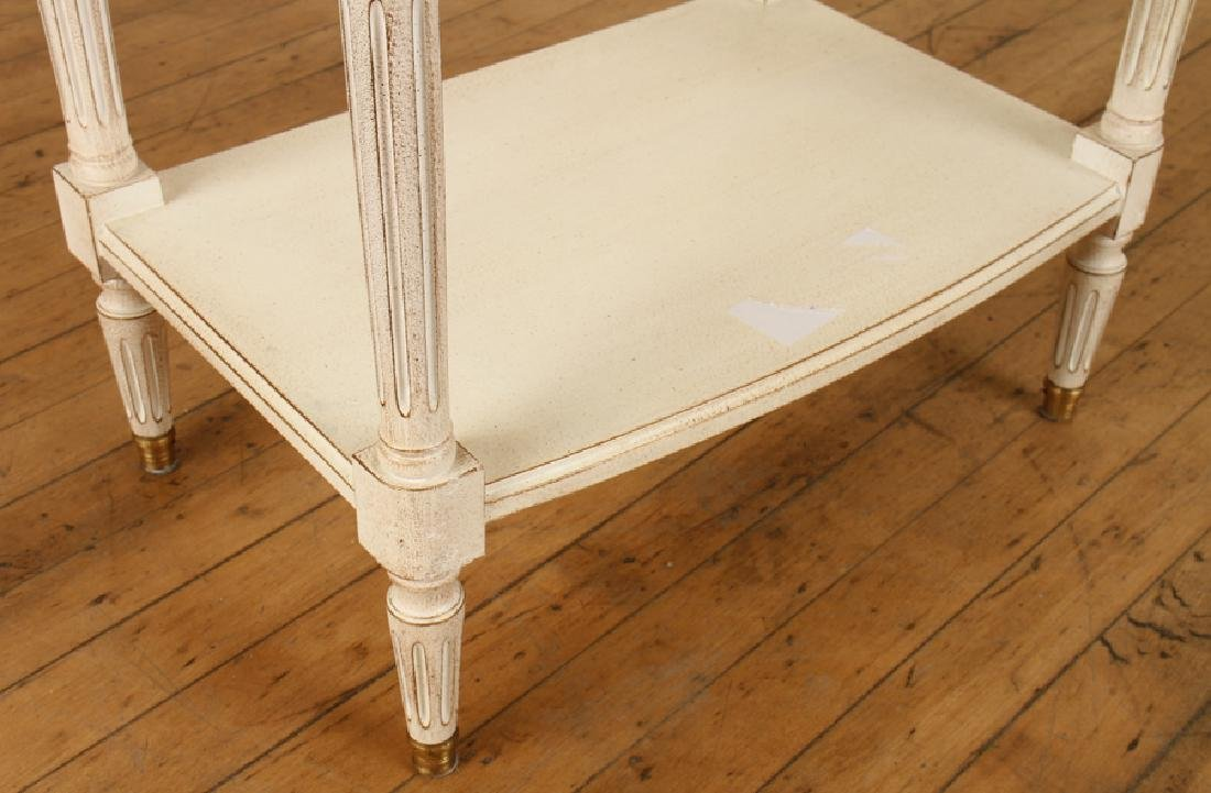 PAIR FRENCH POLYCHROMED MARBLE TOP SIDE TABLES - 6