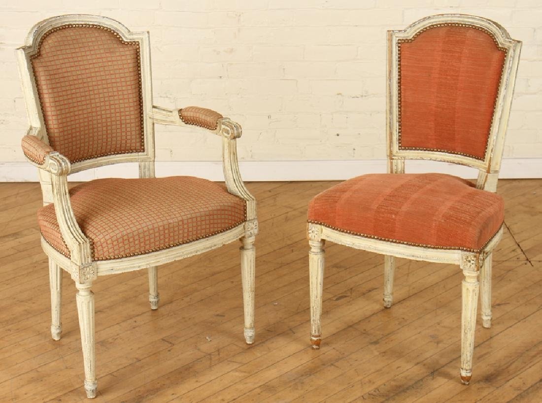 SET 6 LOUIS XVI STYLE DINING CHAIRS CIRCA 1940. - 2