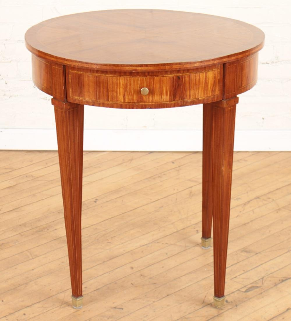 FRUITWOOD OCCASIONAL TABLE TAPERED LEGS C.1930