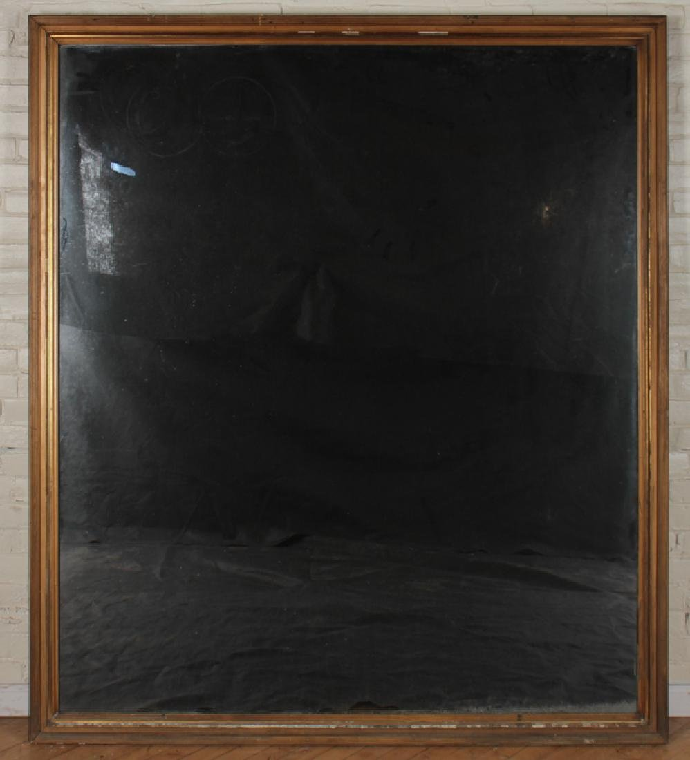 LARGE GILT AND GESSO MIRROR REEDED FRAME C.1910