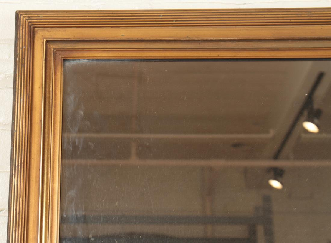 LARGE GILT AND GESSO MIRROR REEDED FRAME C.1910 - 2
