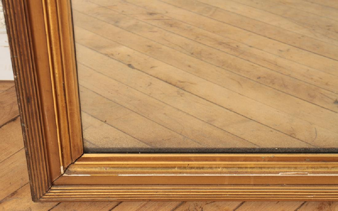 LARGE GILT AND GESSO MIRROR REEDED FRAME C.1910 - 3