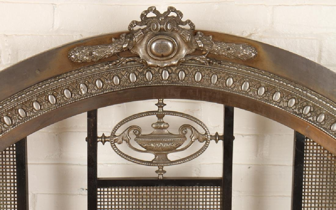 FRENCH BRONZE AND IRON FULL SIZE BED C.1910 - 2
