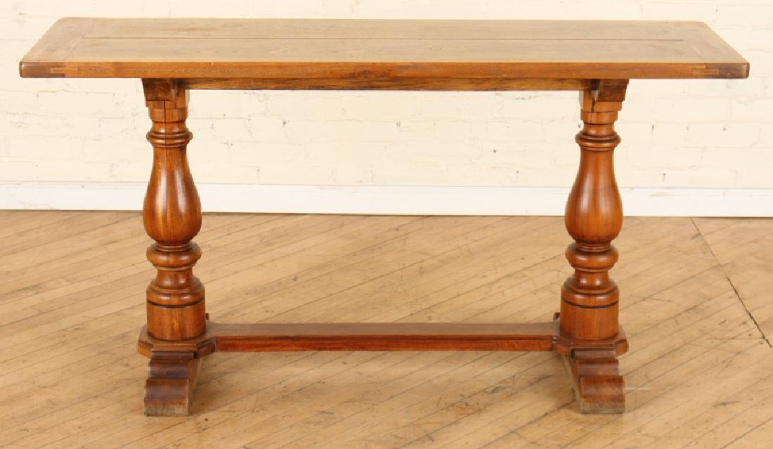 BRAZILIAN WALNUT SQUARE TOP TABLE - 2