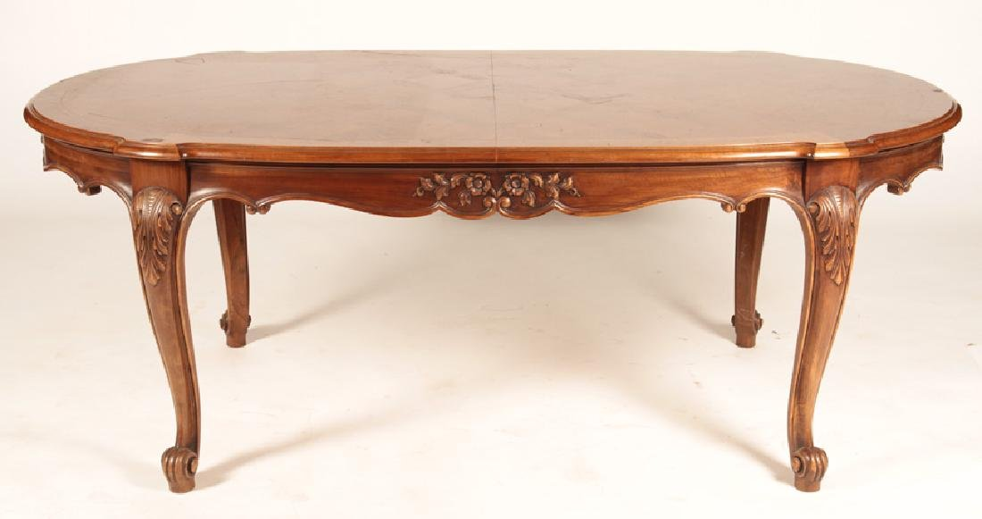 FRENCH LOUIS XV PARQUETRY TOP DINING TABLE
