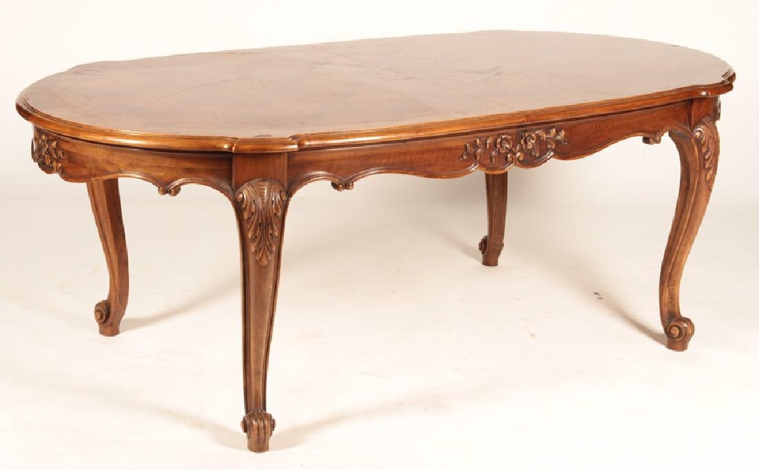 FRENCH LOUIS XV PARQUETRY TOP DINING TABLE - 2