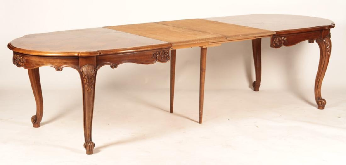 FRENCH LOUIS XV PARQUETRY TOP DINING TABLE - 3