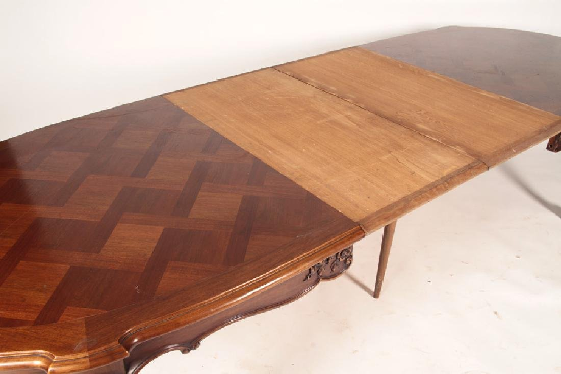 FRENCH LOUIS XV PARQUETRY TOP DINING TABLE - 4