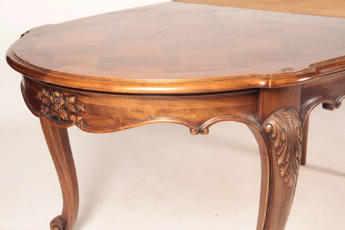 FRENCH LOUIS XV PARQUETRY TOP DINING TABLE - 5