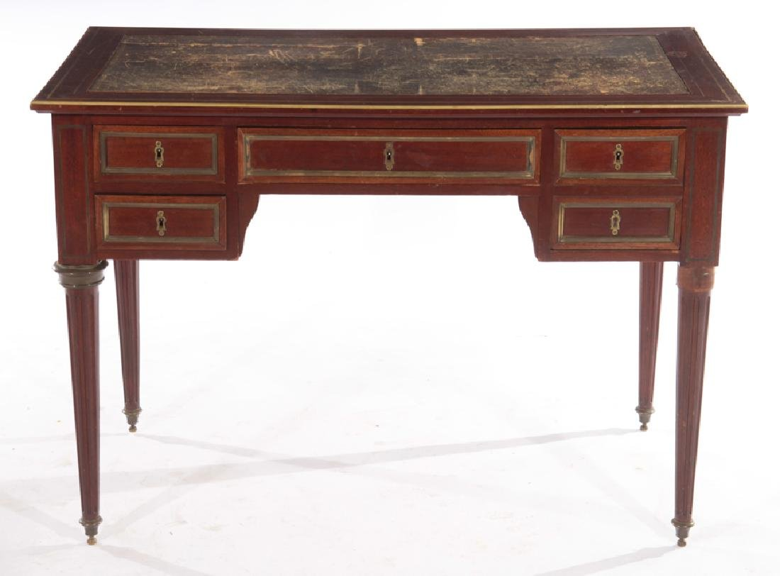 19TH CENT. FRENCH DIRECTOIRE STYLE MAHOGANY DESK