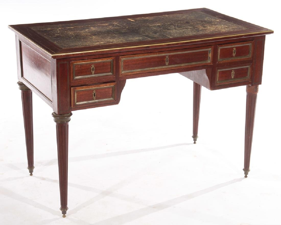 19TH CENT. FRENCH DIRECTOIRE STYLE MAHOGANY DESK - 2