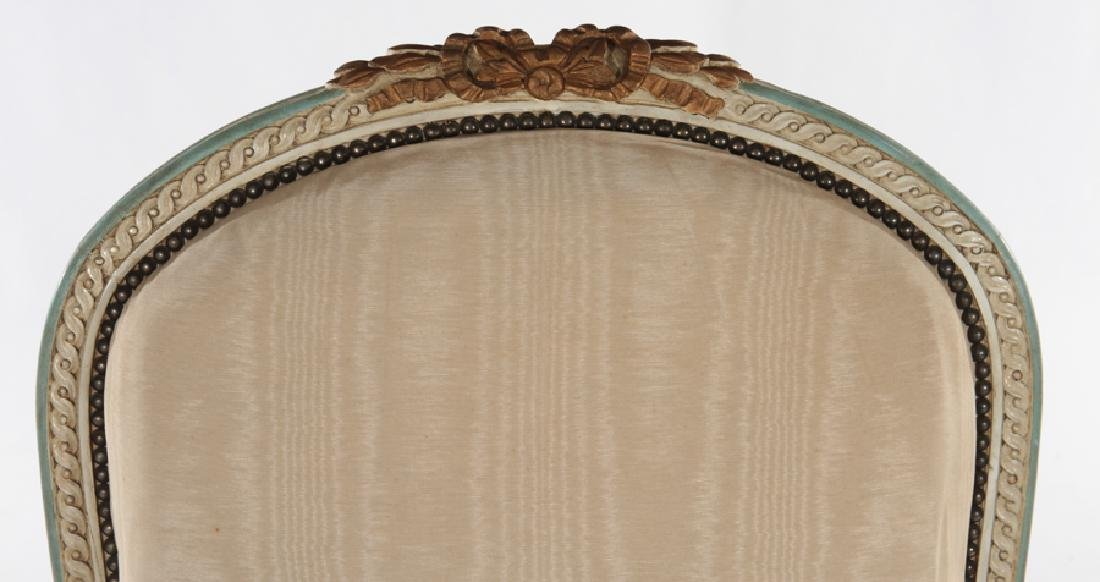 FRENCH LOUIS XVI STYLE BERGERE CHAIR C.1920 - 3