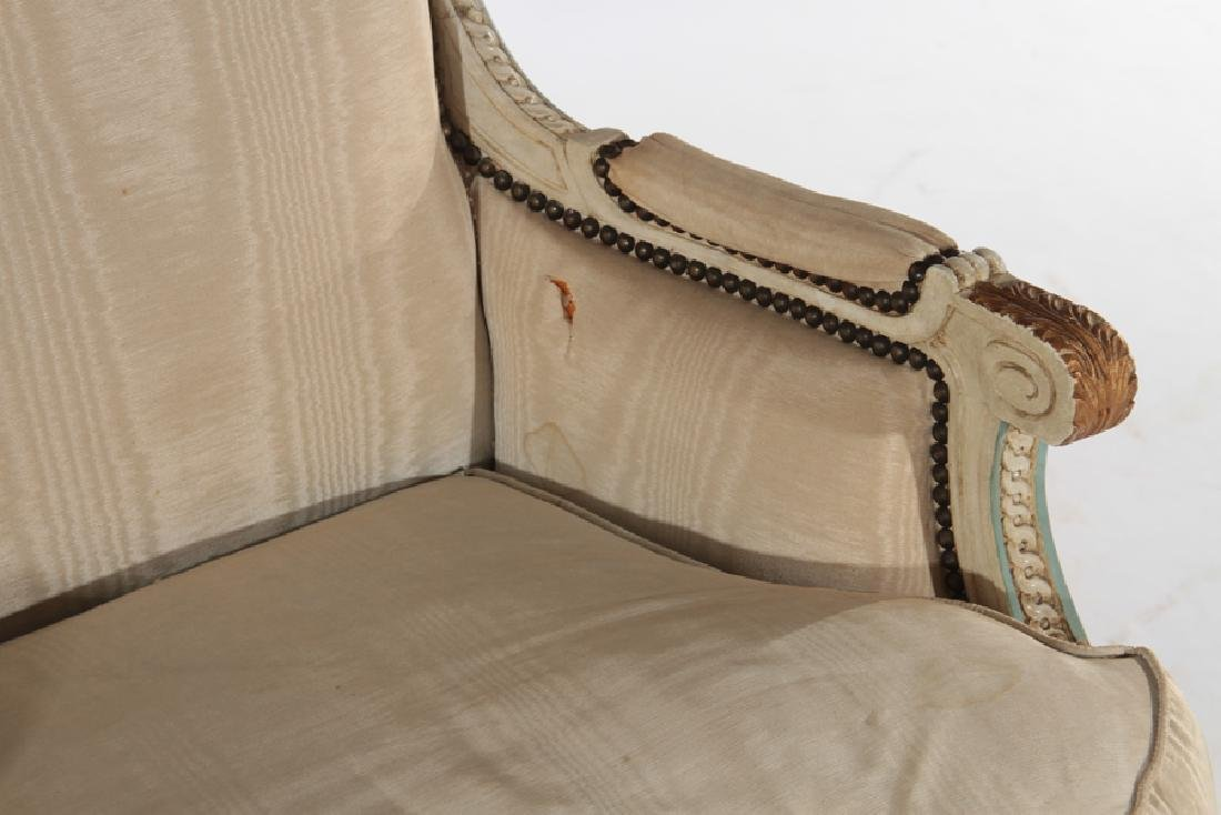 FRENCH LOUIS XVI STYLE BERGERE CHAIR C.1920 - 4