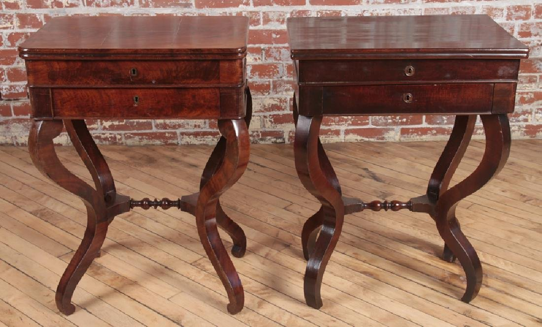 TWO EMPIRE STYLE FLIP TOP STANDS